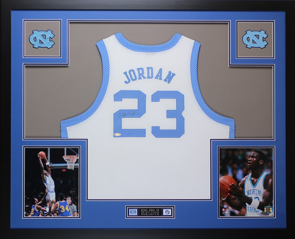 buy online 413ea 8c04a Michael Jordan Autographed White UNC Tar Heels Jersey ...