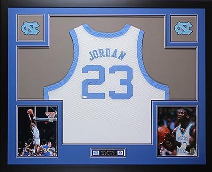 buy online 3d19b f4aa4 Michael Jordan Autographed White UNC Tar Heels Jersey ...