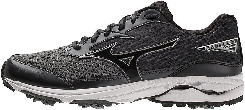 Mizuno 2018 Wave Cadence - Zapatos de golf repelentes al agua para hombre, Hombre, negro, 10 UK/ EUR 44.5 / US 11: Amazon.es: Deportes y aire libre