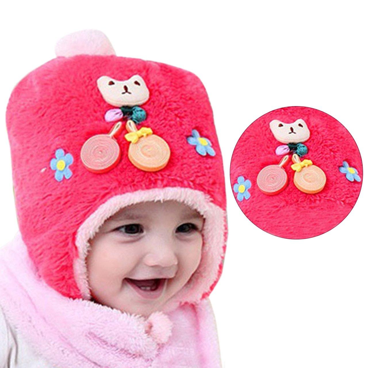 Girls Knitted Neck Warmer Headband, Bonice Winter Cute Snood Wool Scarf Warm Headscarf Cozy Pom Pom Chunky Scarves Gifts for 4-8 Year Old Girls - Grey BT-ertongweijingmazi-mise