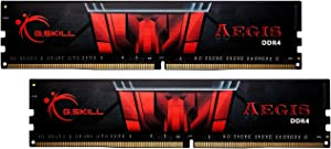 G.Skill 16GB (2 x 8GB) Aegis DDR4 PC4-24000 3000MHz for Intel Z170 Platform Desktop Memory Model F4-3000C16D-16GISB