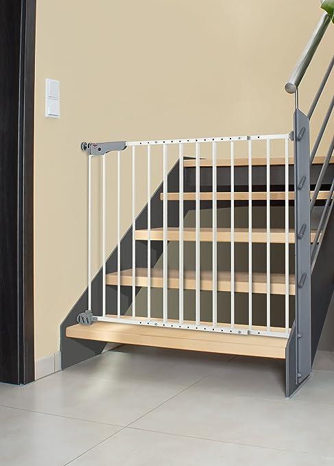 Reer 46120 T-Gate Barrera doble montaje, Active Lock, metal: Amazon.es: Bebé