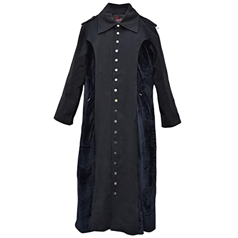 30006499.999M celibato hombre abrigo con insertos de tela longitud gótica de Steampunk ternera hombre Abrigo
