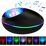Ocean Wave Projector, Lucky Stone Ocean Lights with 12 LED Adjustable Lightness & 7 Lighting Modes, Support TF Card…
