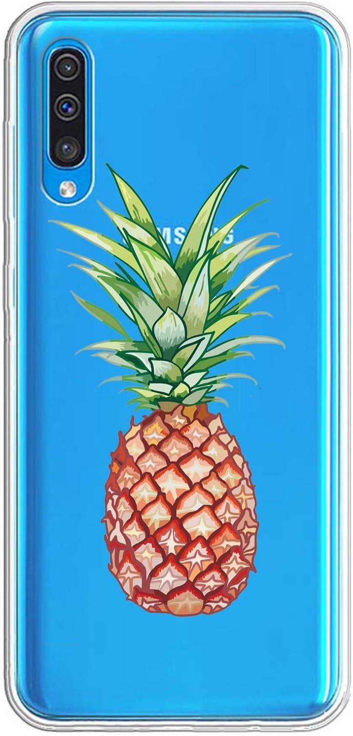 Caler Coque Compatible avec Samsung Galaxy A50 Coque Transparente avec Dessins TPU Souple Bumper de Protection Case avec Motif Mignon en TPU Silicone Antichoc 3D Vogue Ultra Chic