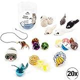 Bella & Balu Katzenspielzeug Set (20 Stück) inkl. Aufbewahrungsdose – Interaktives Katzen Spielzeug für Mehr Spaß und Abwechslung im Alltag Ihrer Katze
