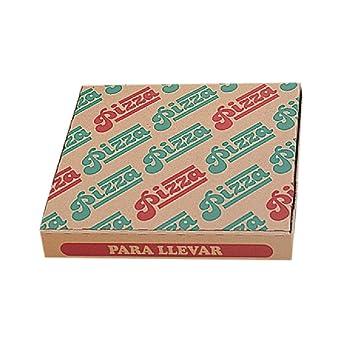 García de Pou 219.74 Cajas Pizza Microcanal Ecológicas 40 x 40 x 3.5 cm, Set