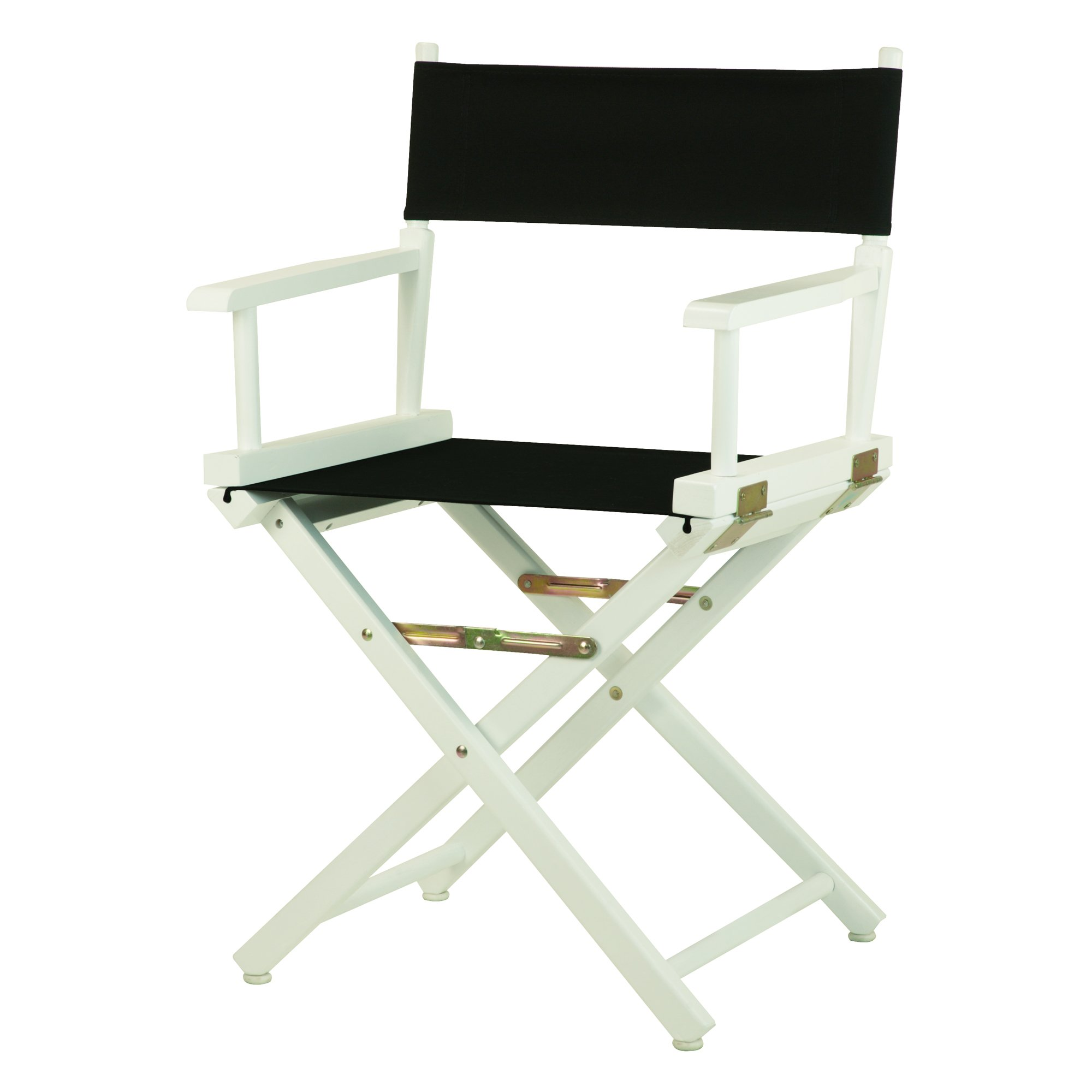 Casual Home 18'' Director's Chair White Frame with Black Canvas