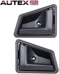 New Interior Door Handles Set of 2 Rear Driver /& Passenger Side LH RH Pair