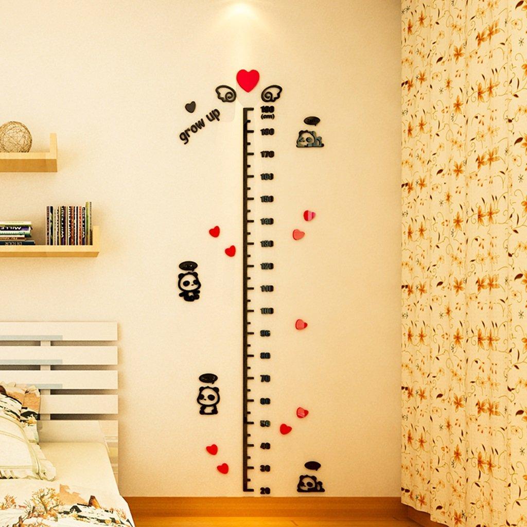 DWW-Wandsticker Wandaufkleber Cartoon Kristall Acryl 3d Kinderzimmer Höhe Aufkleber kreative wasserdicht langlebig Wandsticker ( größe : 190cm )