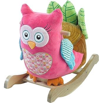 Rockabye Owlivia Pink Owl Rocker One Size