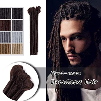 Amazoncom 12 Soft Dreadlock Extension For Men Handmade Synthetic