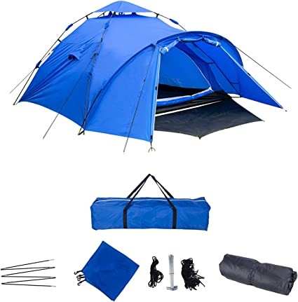 Laneetal Campingzelt Wurfzelt 3 4 Personen Zelt Sekundenzelt Camping Festival Outdoor Wasserfestes Zelt 3 Jahreszeiten 300x220x150cm