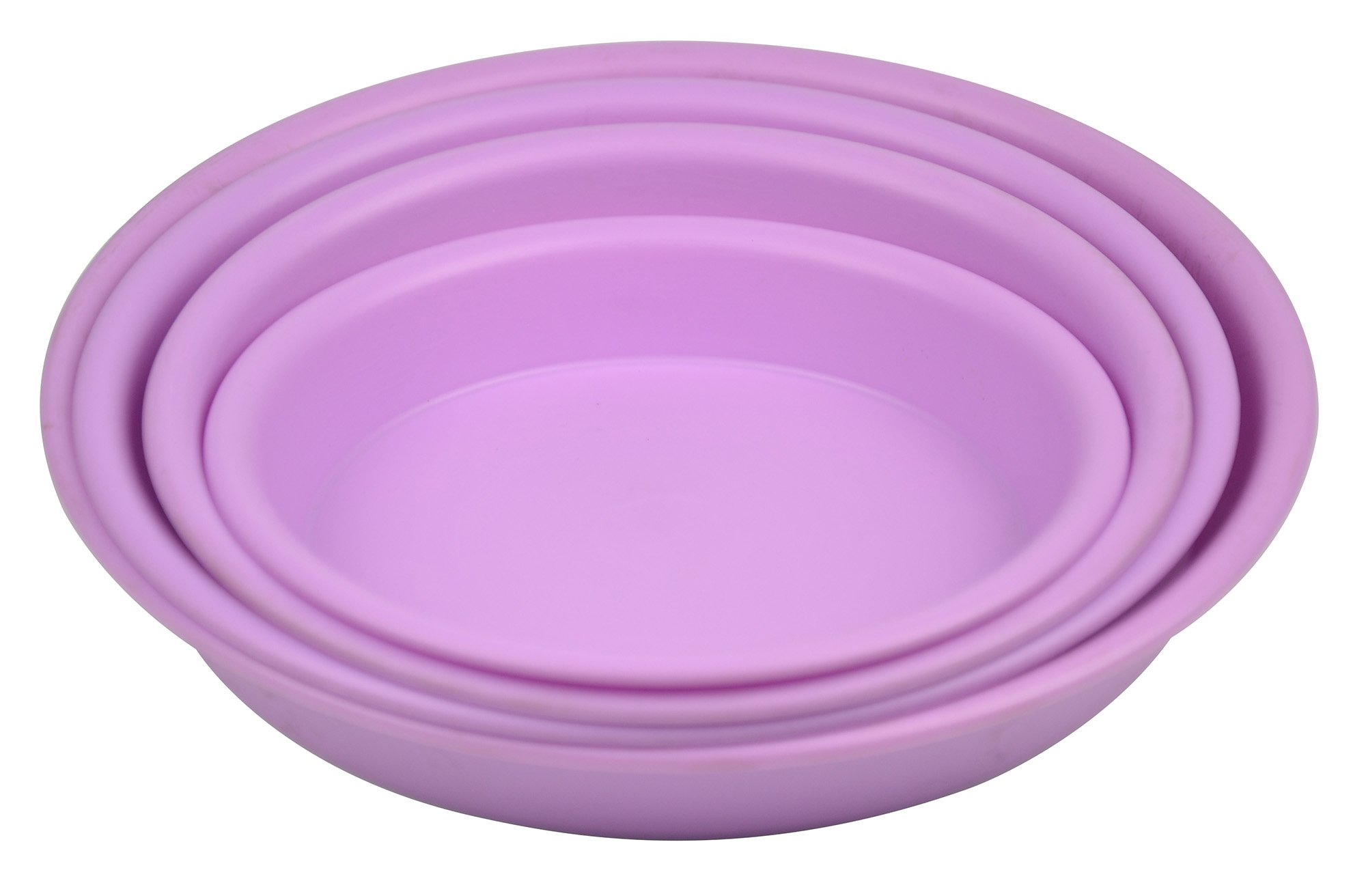 11.8'' Round Plant Saucer Planter Tray Pat Pallet for Flowerpot,Purple,400 Count