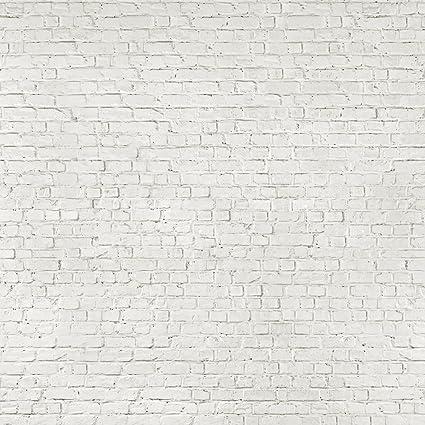 1 Mur Effet Vieilli Blanc Papier Peint Brique Amazon Fr Cuisine