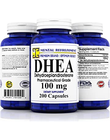 Pure DHEA - 100 mg Max Strength - 200 Capsules - Supports Balanced Hormone Levels for
