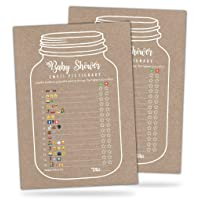 30 Mason Jar Emoji Pictionary Baby Shower Games - Cute Fun Baby Shower Game to Play for Girls, Boys or Gender Neutral Shower Party - Baby Guessing Game Idea for Women, Men, Mommy, Daddy, Adults & Kids