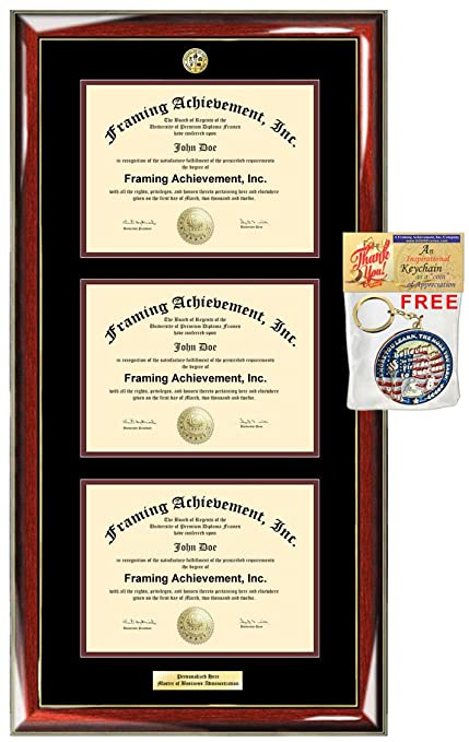 f821cda859d License Triple Document Frame Double State Board Logo University Diploma  Framing Triple State Seal Holder Case