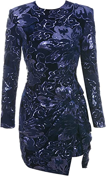 Zimaes-Women Solid Bell Sleeve Lace Off Shoulder Cocktail Party Dress