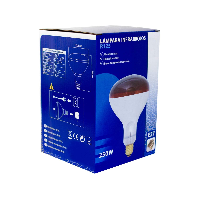 Lampara Infrarrojos Bombilla 250W (E27) - para Estufa de Infrarrojos - Emite Calor - Alta Eficiencia: Amazon.es: Industria, empresas y ciencia