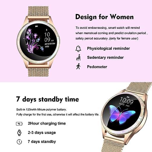 Yocuby V2 - Reloj inteligente para mujer, rastreador de actividad ...