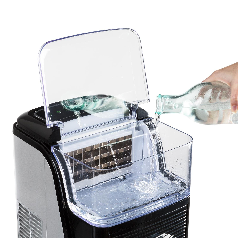Eiswürfelmaschine Icemaker Eiswürfelbereiter 2 Größen Umlaufsystem 15Kg//Tag