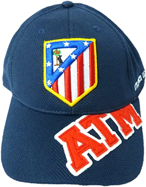 GORRA OFICIAL ATLETICO DE MADRID ATM AZUL 2016 ADULTO: Amazon.es ...