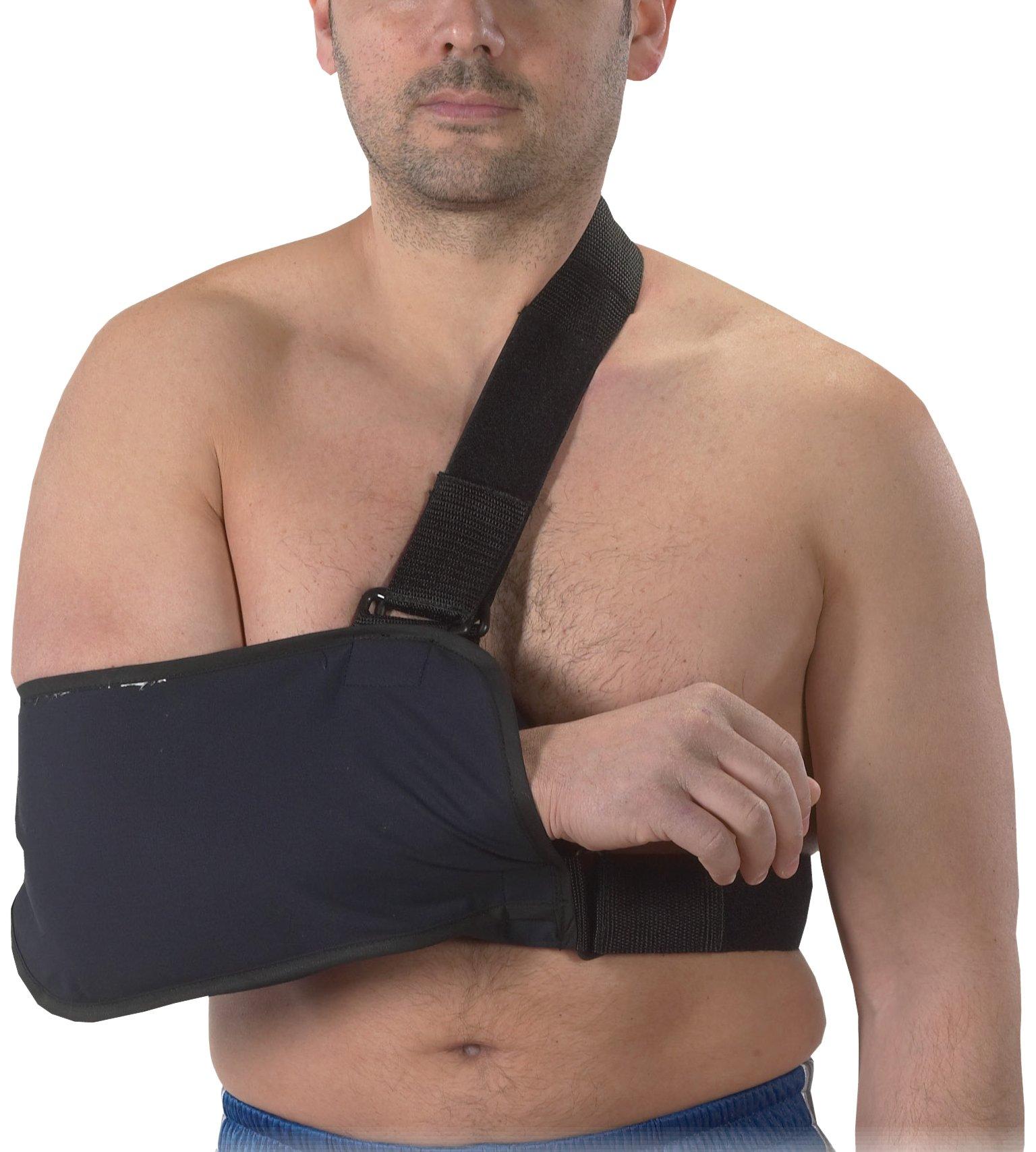 Bilt-Rite Mastex Health Arm Sling with Immobilizing Strap, Navy Blue, X-Large