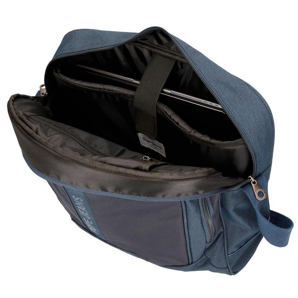 Pepe Jeans Greenwich - Maletín, 39 cm, 13.3 litros, Azul: Amazon.es: Equipaje