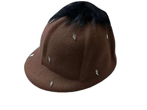 YueLian Mujer de Sombrero de Boina Diseño único con Una Decoración Lana Gorra(brown)