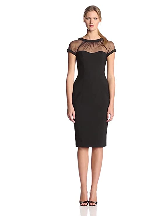 Amazon Maggy London Womens Cap Sleeve Crepe Dress Clothing