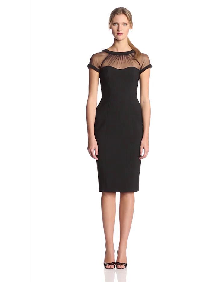 5245befa6db Amazon.com  Maggy London Women s Cap-Sleeve Crepe Dress  Clothing
