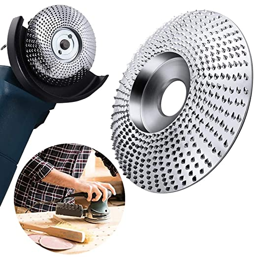 4Inch, Arc Type, Gold Winbyoan 7//8 Bore Wood Carving Disc Angle Grinder Disc Wood Grinding Shaping Wheel Wood Grinder Shaping Disc Fit Angle Grinders with 5//8 Spindle
