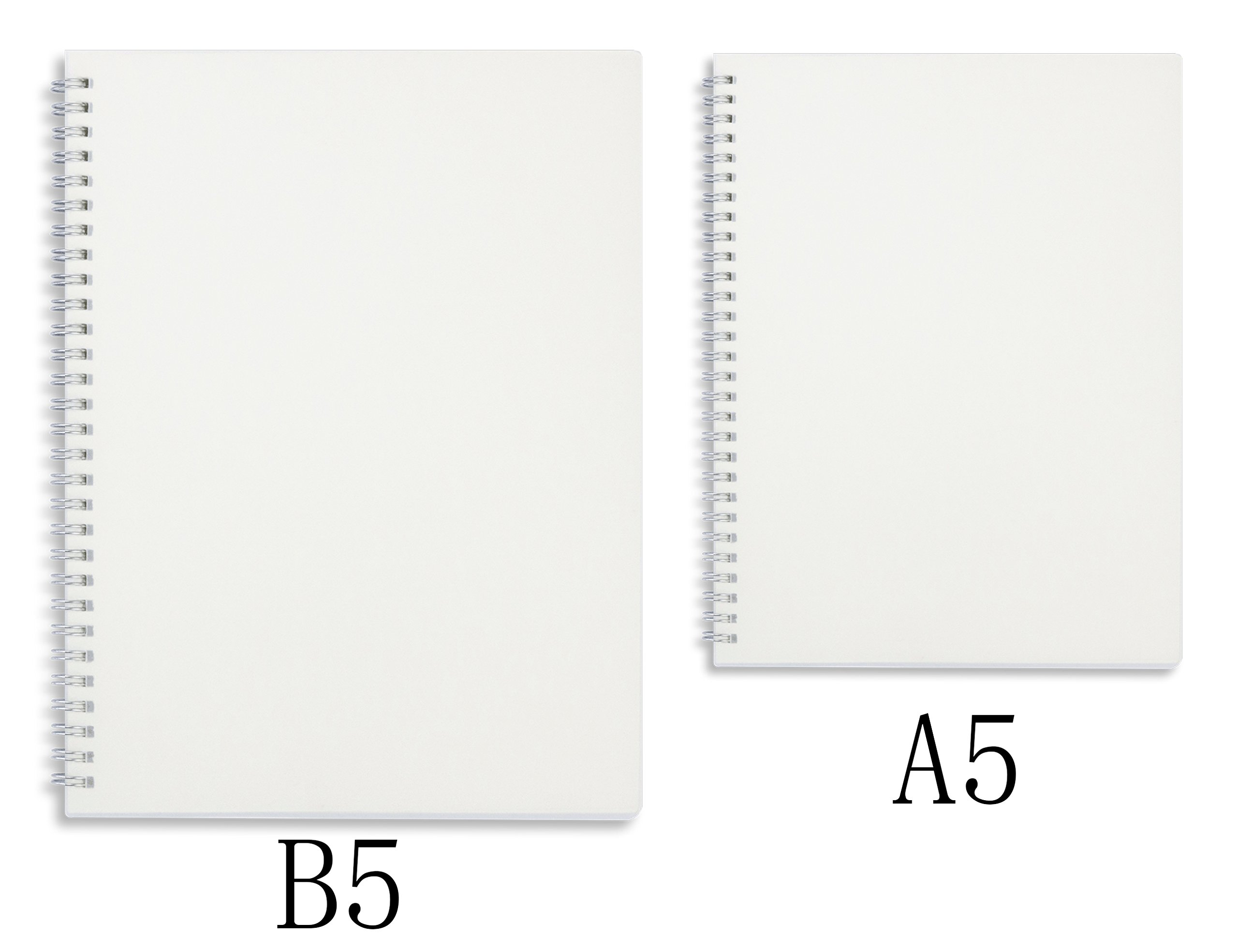 Miliko Transparent Hardcover B5 Square Grid Wirebound/Spiral Notebook/Journal Set-2 Per Pack, 7.1''x10''(Square Grid) by MILIKO (Image #4)
