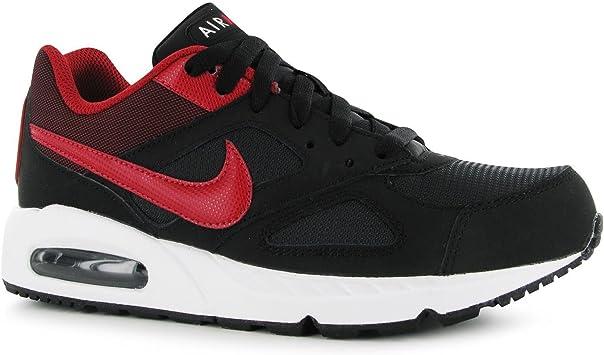 Nike Air MAX Ivo formación Zapatos para Hombre Negro/Rojo Sports Fitness Zapatillas Zapatillas, Negro/Rojo: Amazon.es: Deportes y aire libre