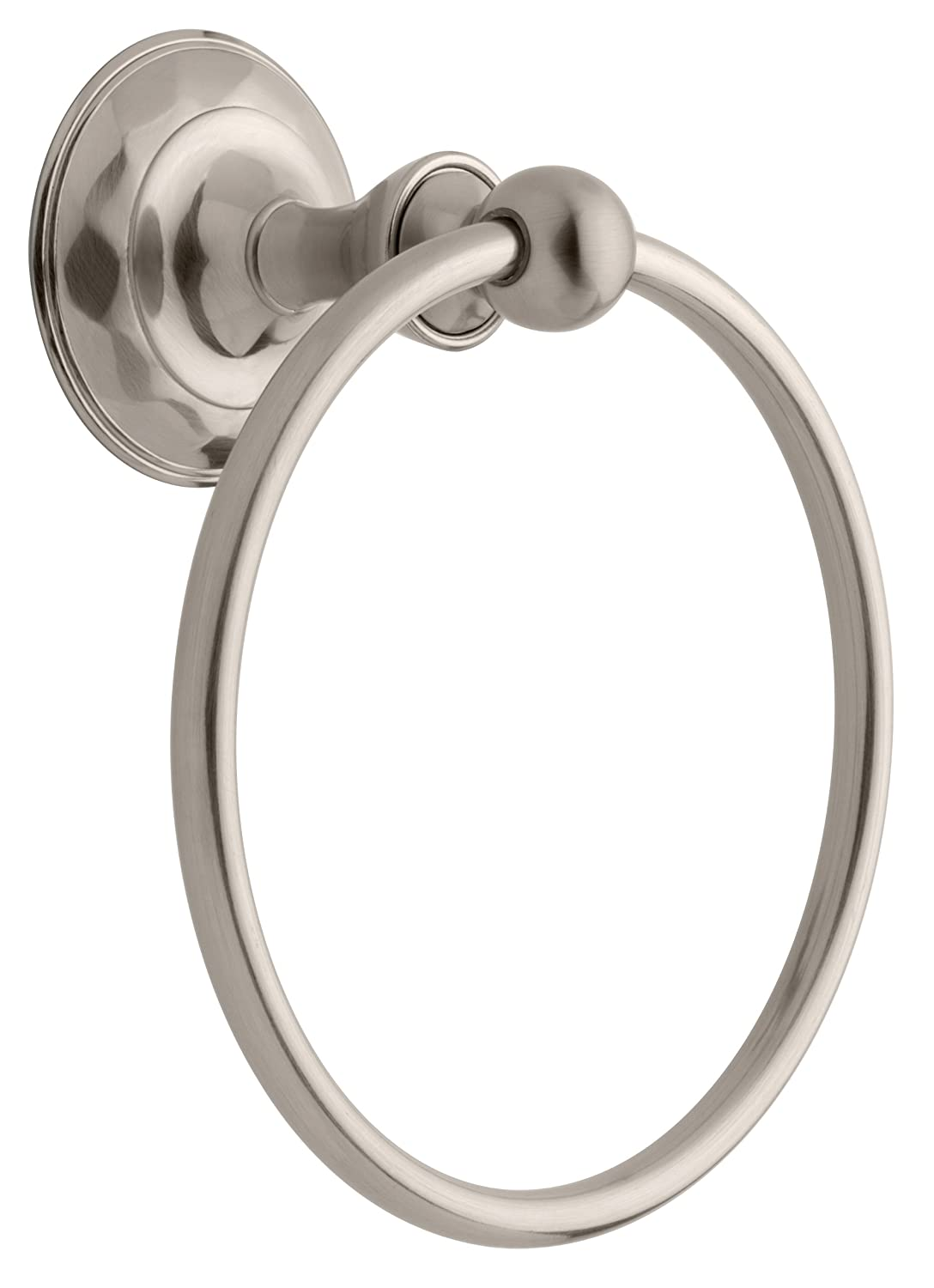 Delta Faucet 133057 Pirouette Towel Ring, SpotShield Brushed Nickel