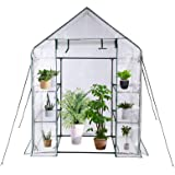 """Greenhouse,Indoor and Outdoor Greenhouse,Window and Anchors Include,Grow Plants Seedlings Herbs or Flowers(56""""×30""""×76"""")"""