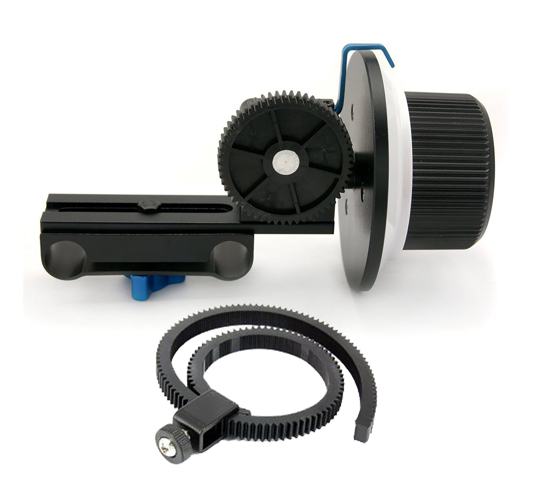 SunSmart Pro DSLR 15mm rod support system Follow Focus With Gear Ring Belt for DSLR cameras by SunSmart (Image #4)
