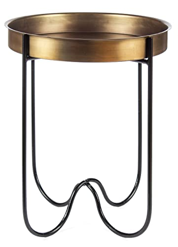 Apple Valley Lace Cut Dark Blue Iron Accent Table