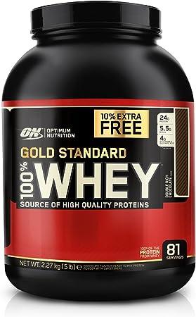 Optimum Nutrition c Proteína en Polvo, Chocolate - 2270 gr + 10% Extra