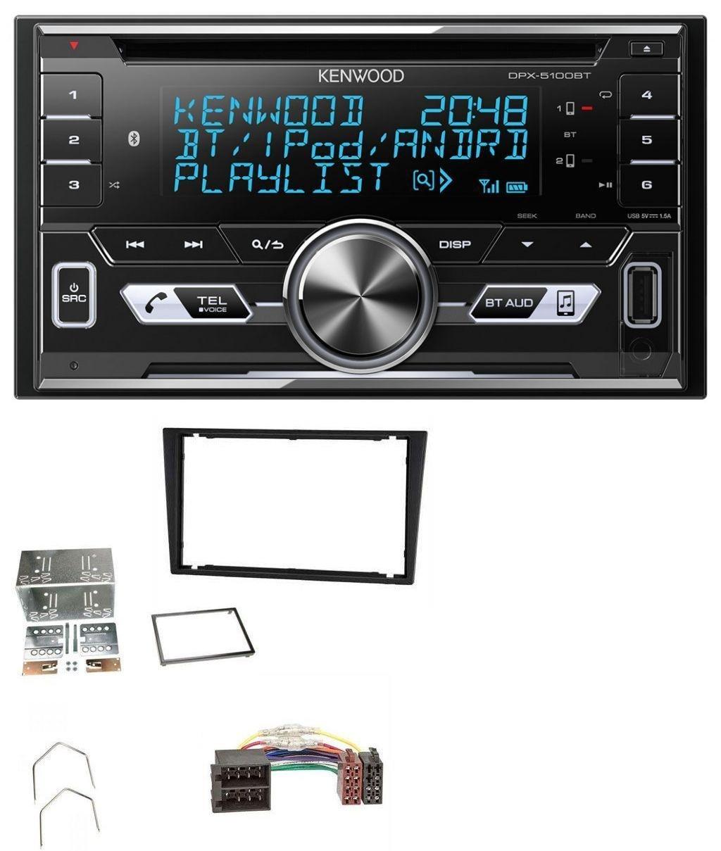 Kenwood DPX-5100BT Aux CD 2DIN MP3 Bluetooth USB Autoradio fü r Opel Corsa C Meriva Signum Vectra B 00-04 Charcoal caraudio24