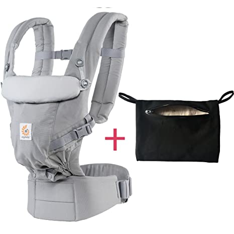 d01b9a4098b Buy Ergobaby Adapt 3 Position Baby Carrier and modd mini Storage Pocket (pearl  grey) Online at Low Prices in India - Amazon.in