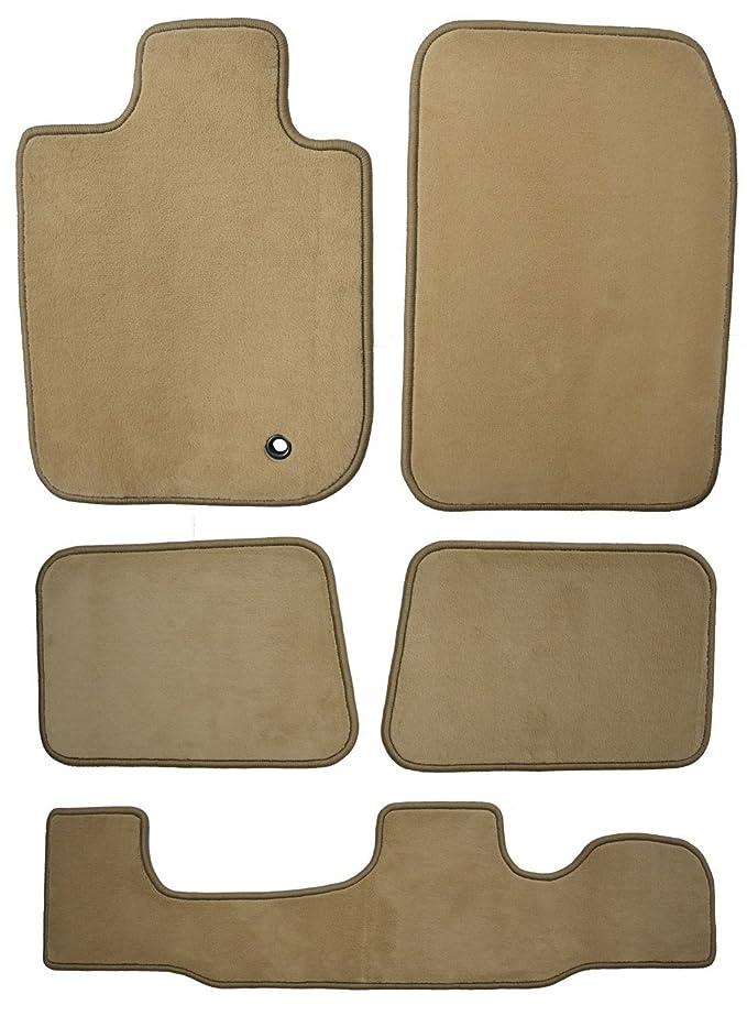 GG Bailey D3551A-LSB-BGE Three Row Set Custom Fit Floor Mats For Select Mercury Mountaineer Models - Nylon Fiber (Beige)