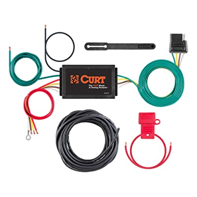 CURT 59146 Powered 3-to-2-Wire Splice-in Trailer Tail Light Converter Kit with 4-Pin Wiring Harness: Automotive