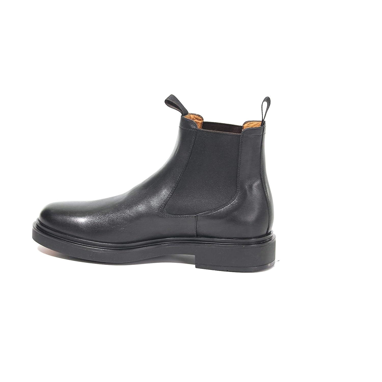 Santoni Mens MGWB10027NERIGSMN01 Black Leather Ankle Boots