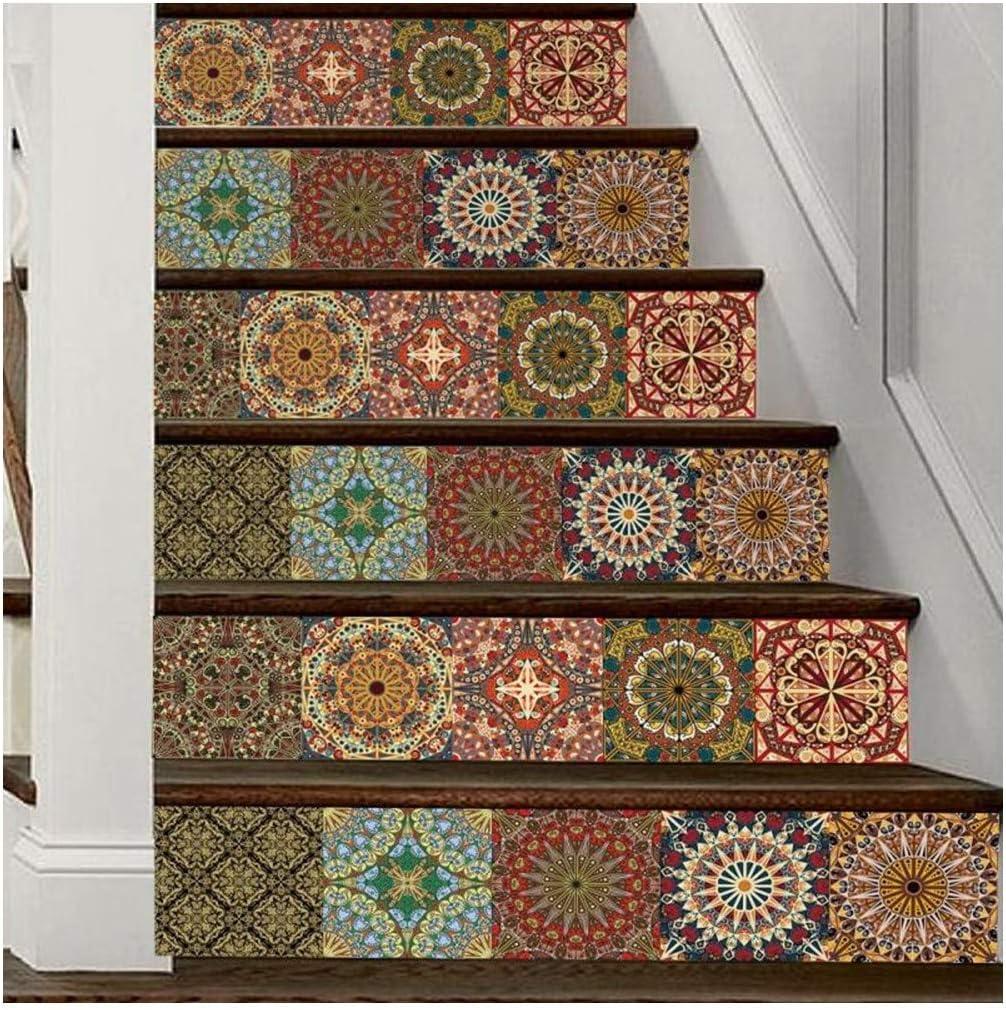 SERFGTFH Decoracion DIY Pasos Adhesivo Removible Adhesivo Escalera Decoracion Azulejos Cerámicos Patrones Adhesivo De Pared Espejo Deco Hogar: Amazon.es: Hogar