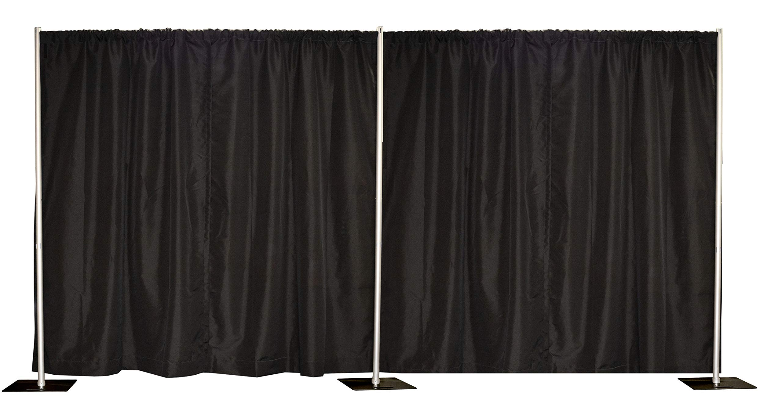 10' x 20' Pipe and Drape, Backdrop Kit, Adjustable uprights (Black) by Crowd Control Center