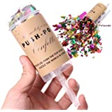 PeNeede 10 Pcs Push Pop Containers with Lips Confetti Toy DIY Birthday Decor Party Favor Bride Wedding Poppers Confetti