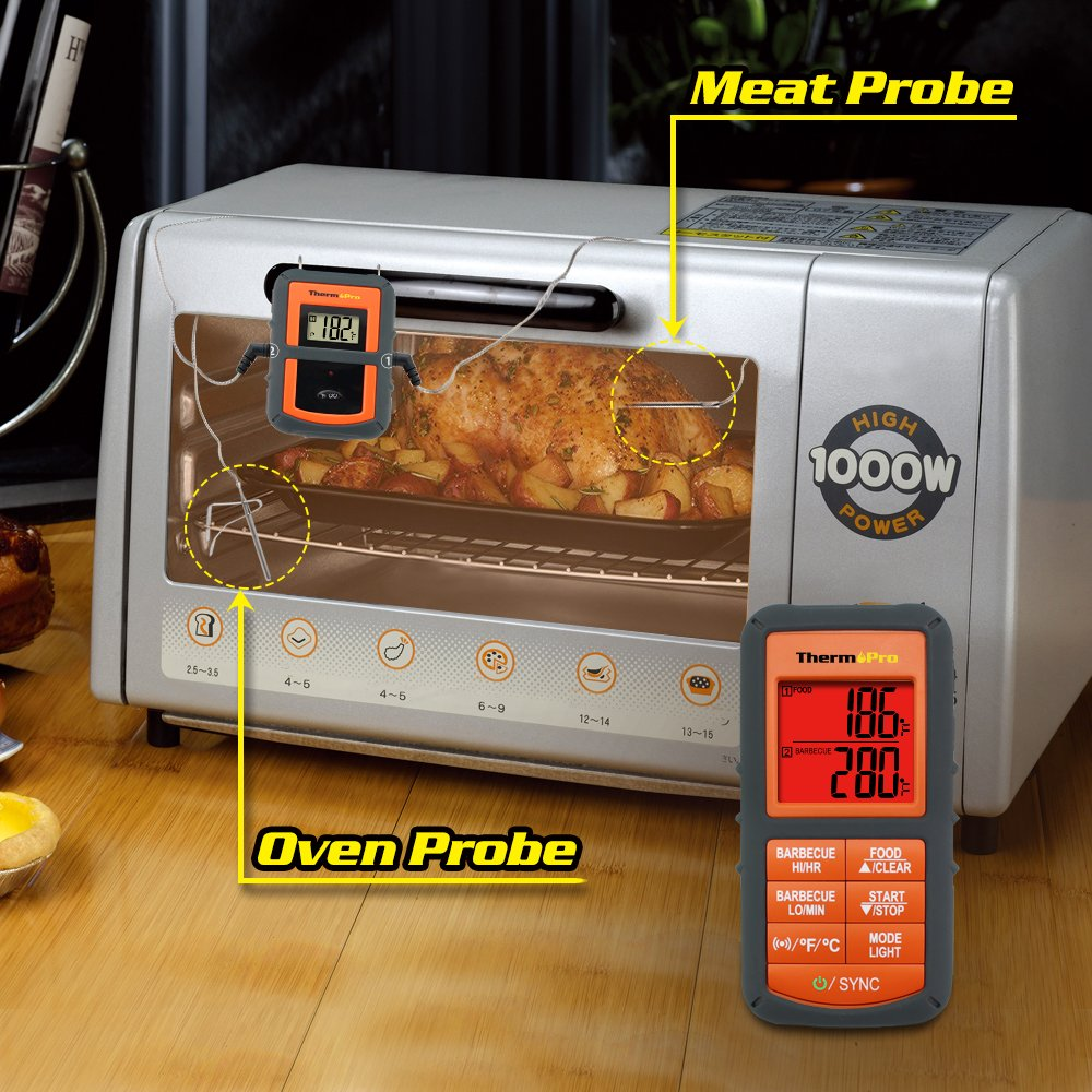Amazon.com : ThermoPro TP-08 Wireless Remote Digital Cooking Meat ...