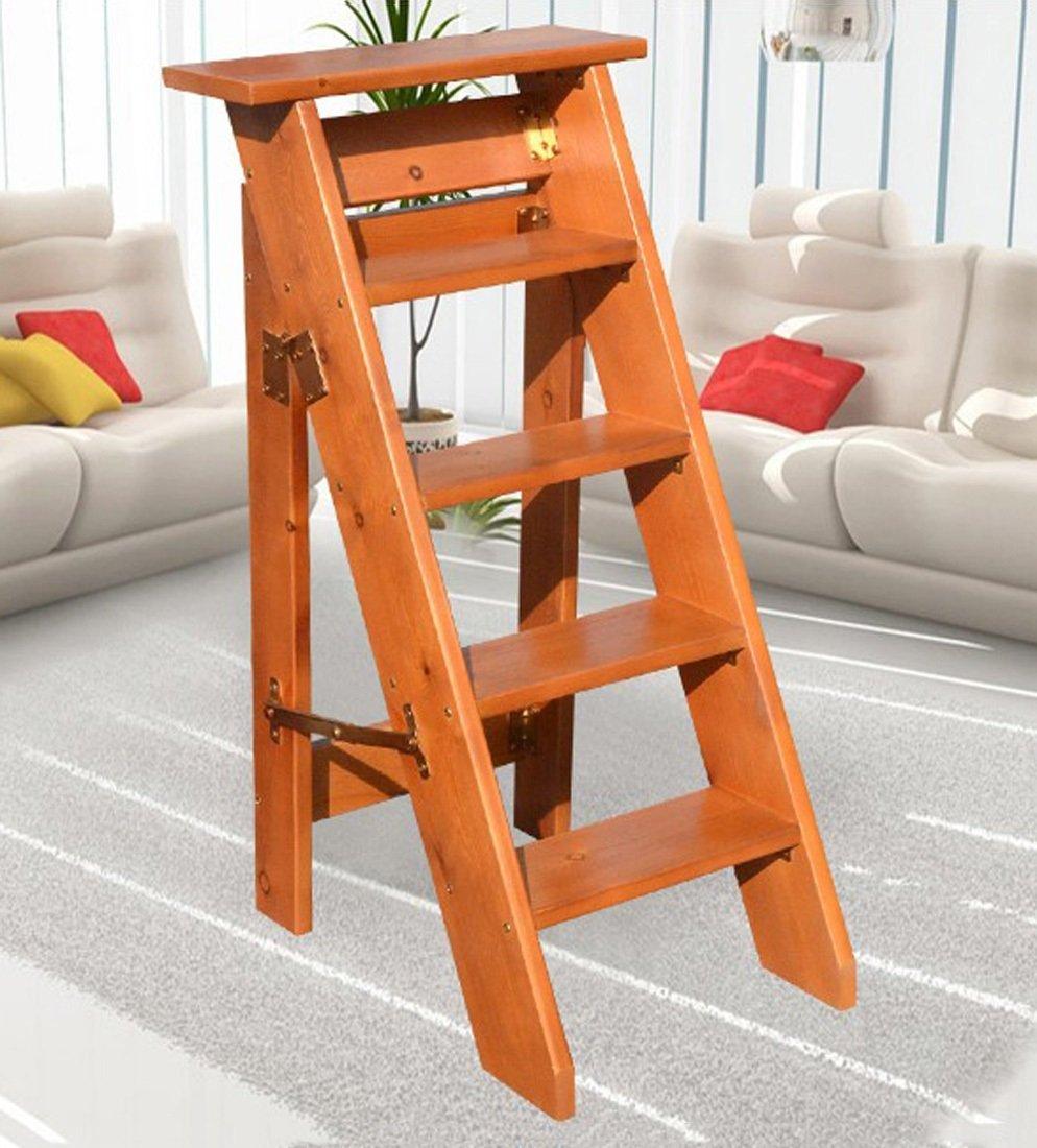 CAIJUN 折りたたみ ラダー フルソリッドウッド 片側 装飾 家庭 4/5 層 屋根裏部屋の階段 ステップ (色 : D, サイズ さいず : 100cm) B07DH42XH4 100cm|D D 100cm